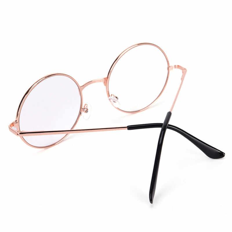 1 шт. ретро мужские/wo мужские круглые солнцезащитные очки с металлической оправой очки с прозрачными защитными стеклами очки мужские женские оптические круглые простые зеркальные