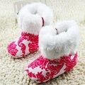 Zapatos de bebé bebés de punto de ganchillo polar botas de niño de la muchacha de nieve de lana zapatos del pesebre botines de invierno