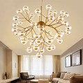 Светлячок подвесной светильник ветви светодиодные стеклянные лампы шар подвесной светильник