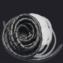 цена на DIAMETER 4-30MM spiral wrapping Cable Sleeves cable wrap wire wrap white black free shipping