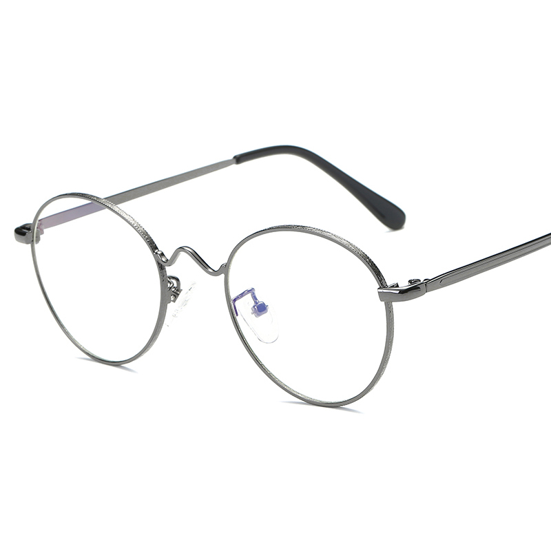 23aa6b14ae JULI Men women Round Sunglasses Retro Metal Frame Eyeglasses Korean Clear  Lens Glasses Male Female Optical Circle Plain Mirror