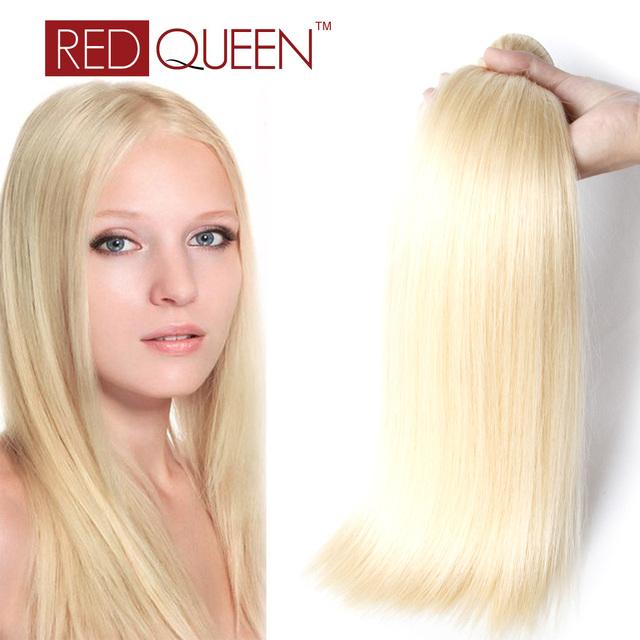 Honey Blonde Hair Brasileño 3 Bundles 613 Rubia Armadura Del Pelo Recto Brasileño de la Virgen Del Pelo Recto de Grado 7a 100g Fábrica venta