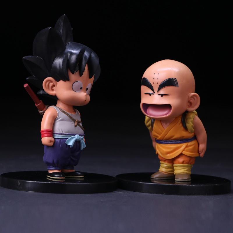 12cm Dragon Ball Z 2018 Action Figure Son Goku Krillin Figure Toys Model Doll free shipping