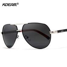 f5dc813b54 KDEAM 63mm piloto hombres gafas de sol polarizadas al aire libre gafas de  sol de conducción de acero inoxidable de primavera-car.