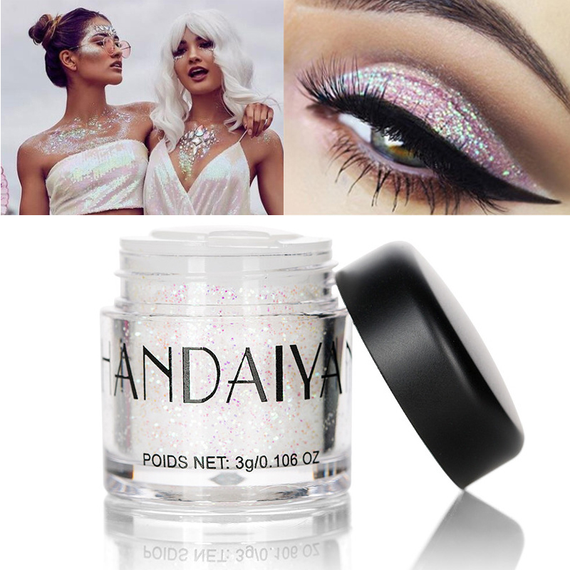 Body Glitter Charitable Handaiyan Body Glitter Loose Powder Festival Face Eye Lip Hair Glitter Tattoo Shimmer Makeup Galaxy Symphony White Glow Pigment