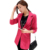 Rihschpiece 2016 Mulheres Brancas Blazers e Jaquetas Slim Fit Plus Size Escritório Ladies Preto Blazer Elegante RZF192