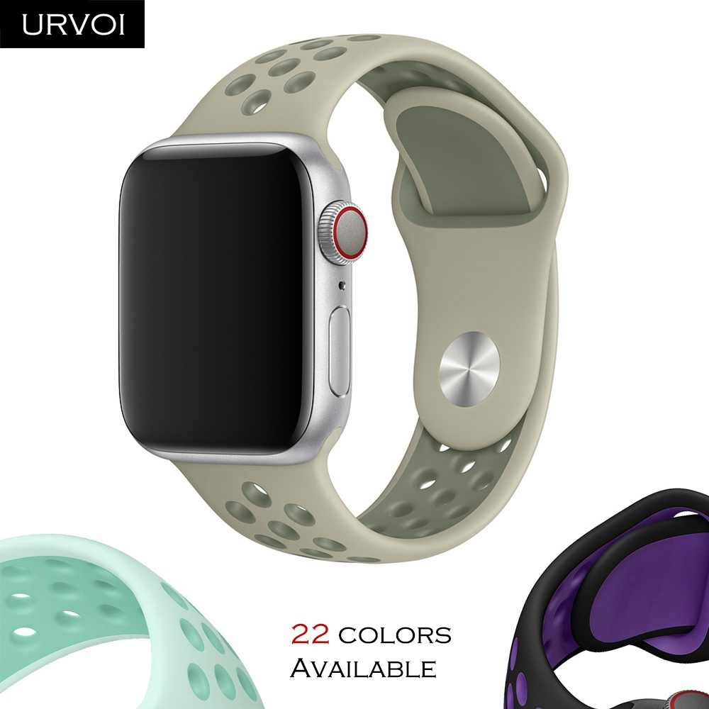 URVOI Sport band for Apple Watch Nike+ series 4 3 2 1 silicone strap for iwatch breathable Spring 2019 new colors 38 40 42 44 mm