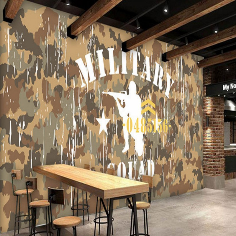 Photo wallpaper camouflage military theme background for Camouflage wall mural