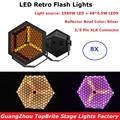 8 шт. 3X60 Вт светодиодные Ретро вспышки с 48X0 5 Вт RGB 3в1 DMX стробоскопические огни для сцены Dj стирка эффект освещения для свадебных концертов