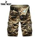 2017 Men's Casual Shorts Without Belt Multi-pocket Military Camouflage Men Shorts Hot Sale Good Quality Shorts Male MKD1051