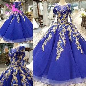 Image 1 - AIJINGYU אופנה חתונה שמלות יפה שמלות כדור סין מערבי כלה שמלות את שמלת חתונת שמלה עם Sheer חזרה