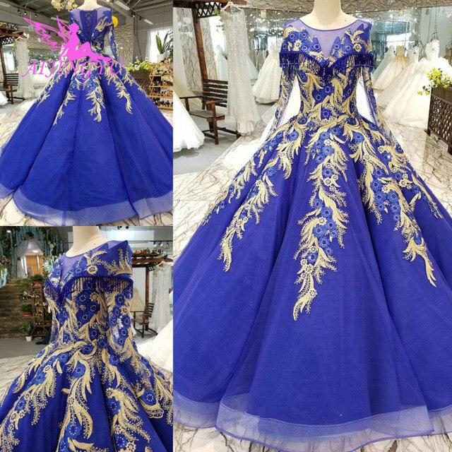 AIJINGYU אופנה חתונה שמלות יפה שמלות כדור סין מערבי כלה שמלות את שמלת חתונת שמלה עם Sheer חזרה