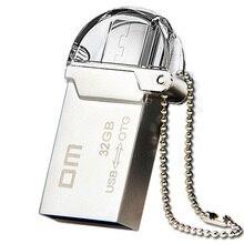 Envío libre DM PD008 OTG USB 100% 32 GB USB Flash smartphone pen drive pendrives otg micro usb de metal a prueba de agua usb palo