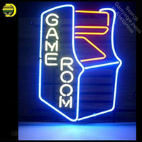 GAMEROOM RETRO neon Signs Real Glass Tube neon lights Recreation Windows Professiona Iconic Sign Advertise neon sign board