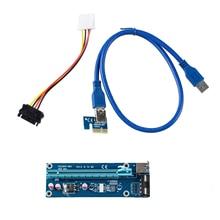 USB 3.0 pci-e Express 1x к 16x Extender адаптер Riser Card Bitcoin Litecoin