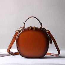 2018 Luxury Brand Design Women Vintage Brown Green Black Genuine Leather Crossbody Shoulder Bags Female Handbag