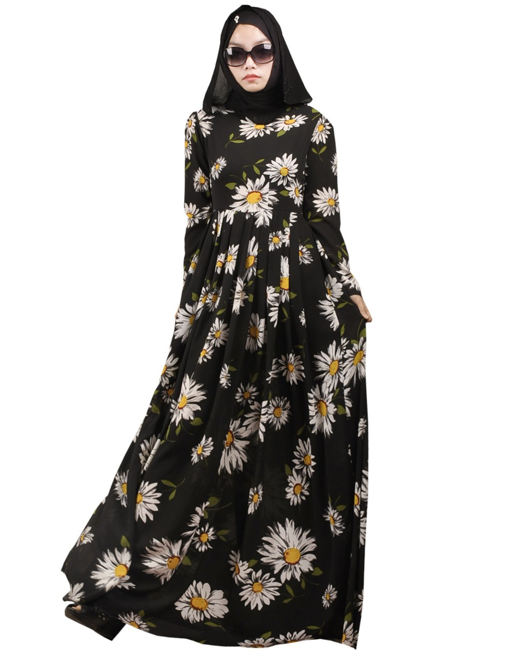 dubai design  High Quality abayas printing chiffon muslim caftan islamic dress turkish traditional dress