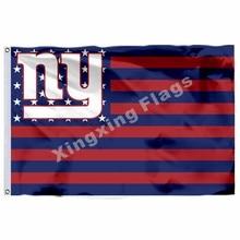 new york giants Flag 3ft x 5ft Polyester NFL new york giants Banner Flying  Size No.4 90 150cm Custom flag 34ec3be69