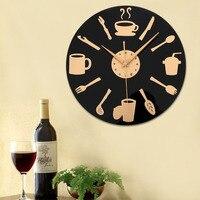 Kreatywna Kuchnia Nóż i Widelec Łyżka Antyczne Ściany Zegarek Kwarcowy Zegar Ścienny Akrylowe Kuchnia Pokój Dzienny Zegar Ścienny Christmas Gift