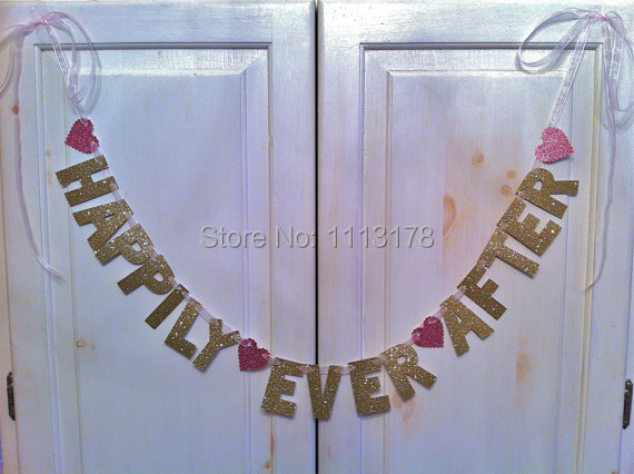 81d72d062be cheap Happily Ever After Banner -- Wedding Decoration   Engagement Party    Photo Prop wedding