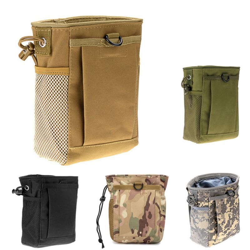 Military Molle Ammo Pouch Pack Tactical Gun Magazine Dump Drop Reloader Pouch Bag Utility Hunting Rifle Magazine Pouch