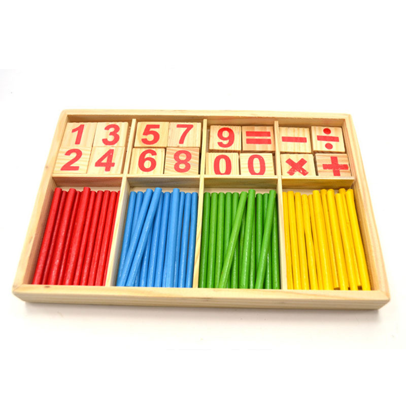 Wooden Montessori Math Toys Digital Stick Preschool Educational Learning Toys For 1 2 3 Years Olds Juguetes Brinquedos E3186Z