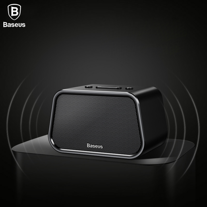 Baseus Portable Bluetooth Speaker Mini Wireless Outdoor Speaker With Mic TF Card Aux Cable U disk Stereo Music Computer Speaker flying saucer style car wireless bluetooth speaker w tf u disk alarm clock black red