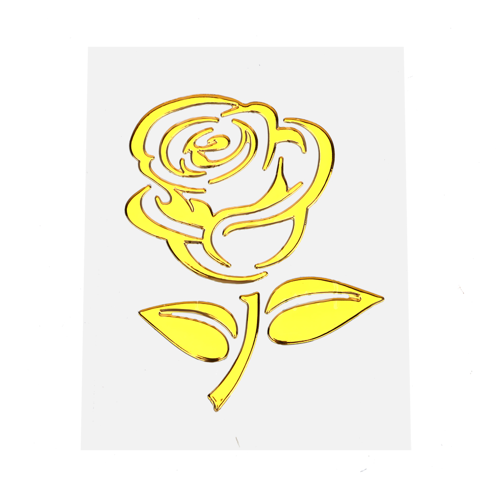 High Quality 3D Car Sticker Golden - Silver Flower Car decal