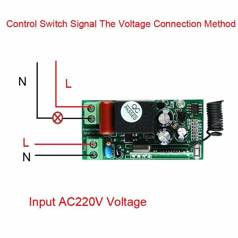 لاسلكي للتحكم ضوء التبديل 10a تتابع الانتاج 220 فولت 1 قناة استقبال وحدة + 50-500 متر على معطلة رمز الارسال