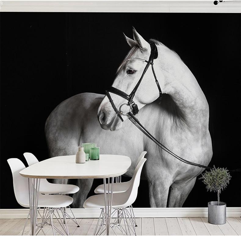 White /& Black Tiger Wallpaper Animal Fur Faux Paste The Wall Vinyl
