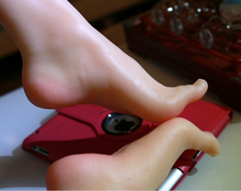 New size 37 real skin texture silicone fake feet male masturbation toys Foot Fetish Model
