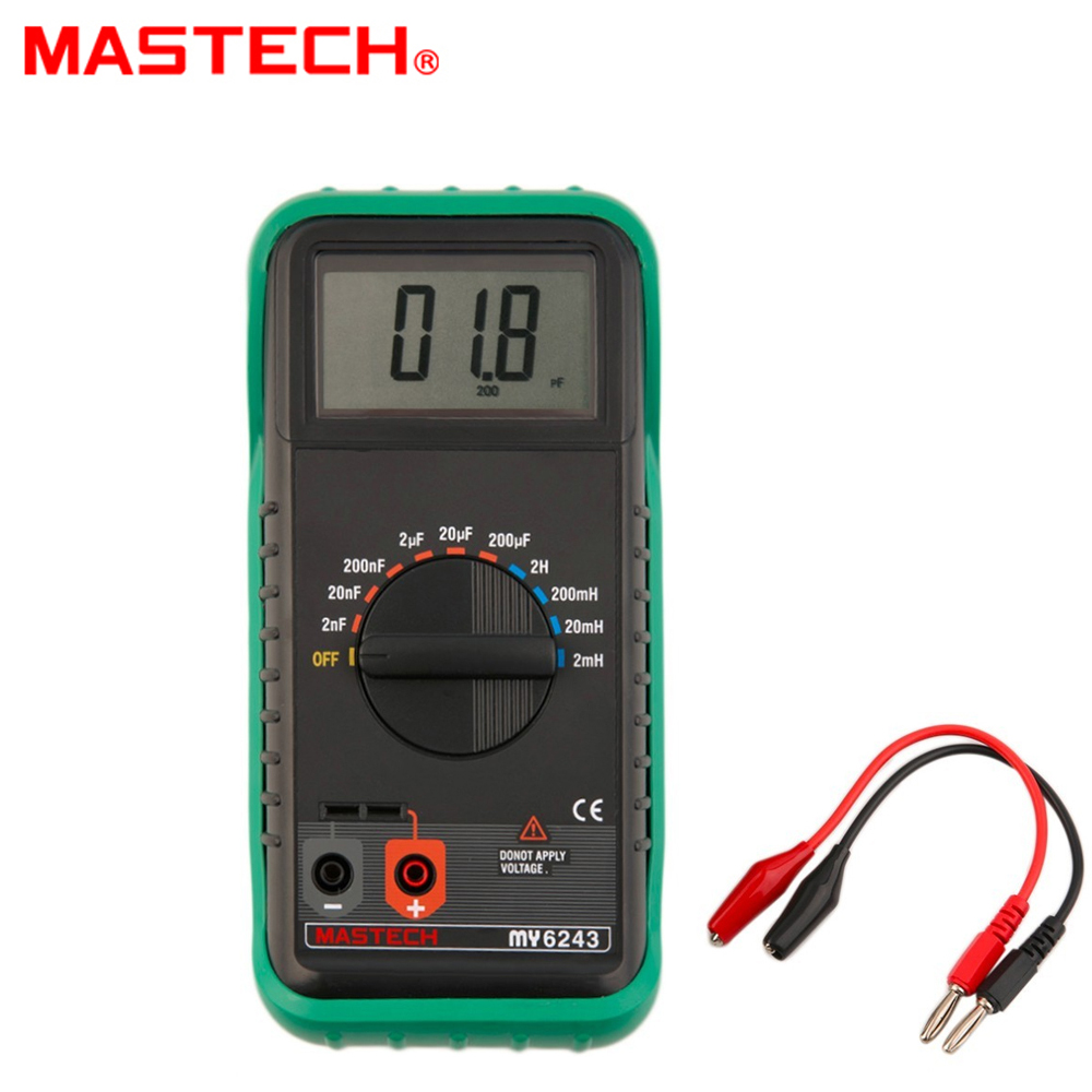 MASTECH MY6243 Digital C/L Inductance 2m/20m/200mH/2H Capacitance Meter 2nF-200uF 3 1 2 1999 count digital lc c l meter inductance capacitance tester mastech my6243