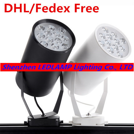 DHL Free shipping LED track light 12W commercial lighting rail light high lumens high quality 3 years warranty