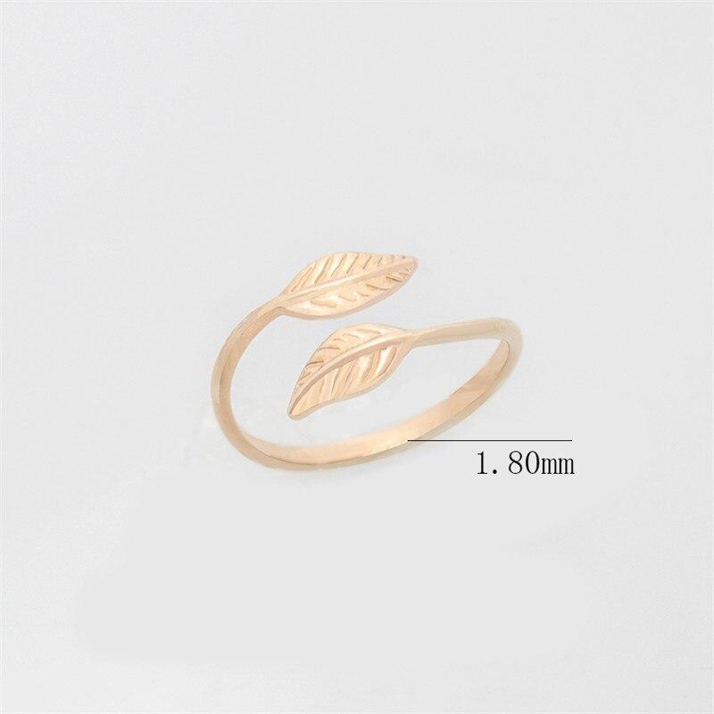 Mode Verstelbare Gold Filled Bladeren Leaf Takken Ringen voor Vrouwen - Mode-sieraden - Foto 5