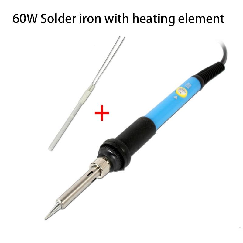 110V Electric Soldering Iron Gun Adjustable Temperature 60W Welding Set Tool USA