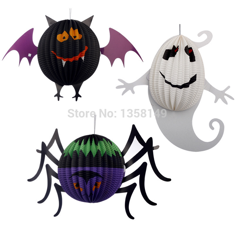3pcslot halloween decoration props horror party supplies chinese lanterns ghost pumpkin halloween party paper lantern on aliexpresscom alibaba group