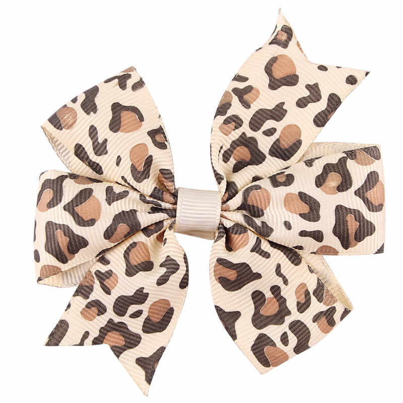 1PCS Cherry Handmade Leopard Creative Design Wave Dots Hair Bow Best Party Dress Up Hairpin for Kids Girl Clip DIY Headband 2017