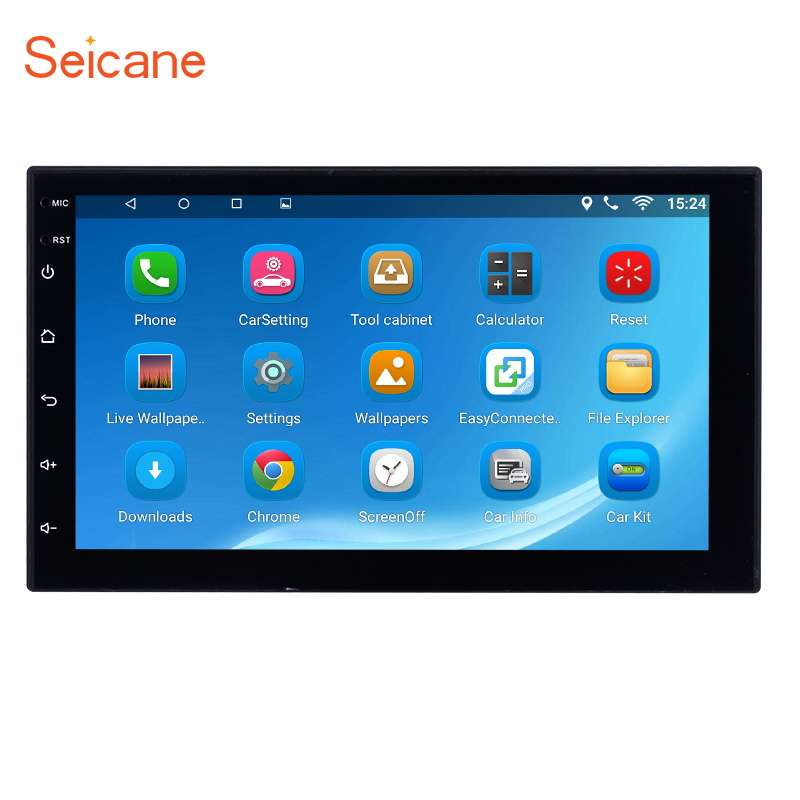 Seicane Universal Android 7 1 HD 7 Car Radio 2Din Touchscreen 1 16GB GPS Stereo For