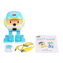 Infrared induction Control Cute Hero Early Education Intelligent Robot Multi Funtion Smart Musical Dancing RC Toy Kids Gift(China)