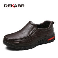DEKABR Fashion Comfortable Breathable Soft Genuine Leather Loafers Shoes Men High Quality Casual Falts Men Oxfords
