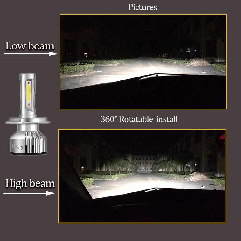 Super Bright Car Headlights H7 LED H4 led H1 H8 H11 HB3 9005 HB4 9006 Auto Bulb 72W 8000LM Automobiles Headlamp 6500K