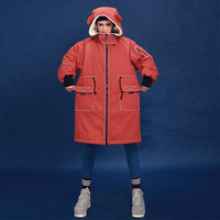 Линетт's Chinoiserie 2017 Зима Для женщин Ультра свободные ватные Пальто для будущих мам