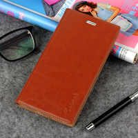 Hot For ZTE Nubia Z9 5 2 Inch High Quality Genuine Leather Smart Cover Case Window
