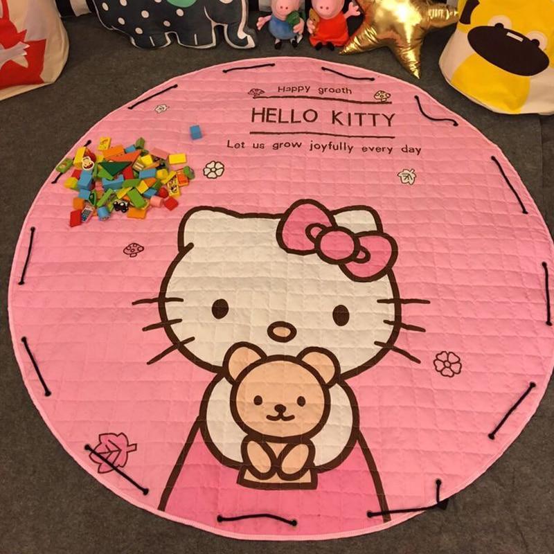 Skyleshine Hello Kitty bébé tapis pour développer ramper tapis tapis enfants jouets sac de rangement enfants jouets S4140