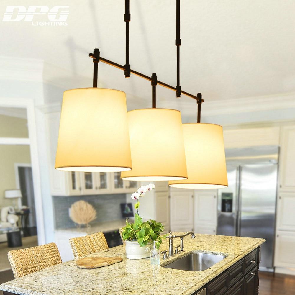 Fekete és arany vas modern étkező szoba függő lámpák fehér - Beltéri világítás