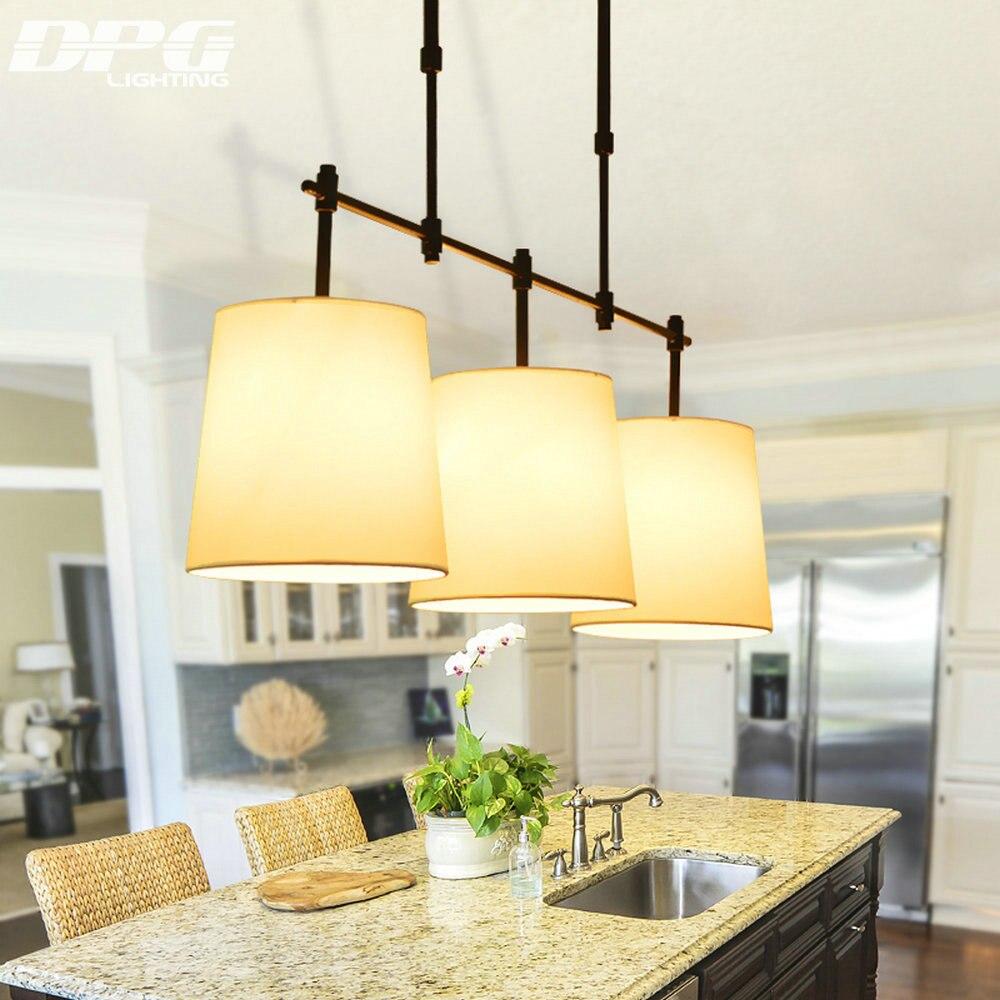 Black and Gold Iron Modern Dinning Room Pendant Lights with White Shade 3*E27 Base 110v 220v for Home Lighting
