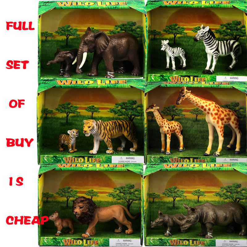 Raffinato modello di simulazione animale giocattolo animale leone zebra elefante pinguino giraffa panda canguro canguro cammello ancora maiale tigre