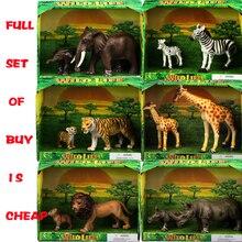 wholesale refined simulation model animal toy lion zebra elephant Penguin giraffe panda kangaroo kangaroo camel still pig tiger