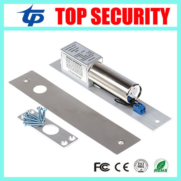 2pcs a lot good quality electric bolt lock 12V electric lock NC fail-safe type power to lock free shipping bolt lock for access good to a fault