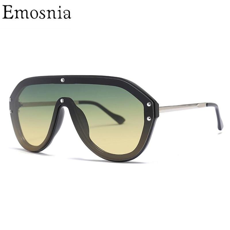 1aa4e26b4dacf Detail Feedback Questions about Emosnia Vintage Pilot Sunglasses 2019 Women  Men Big Frame Shade Sun Glasses Italian Brand Designer Top Fashion Eyewear  ...